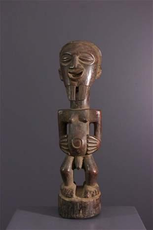 Songye protective wood fetish - DRC Congo - African Art