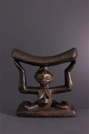 Headrest Luba / Zela, Zula - DRC Congo - African Art