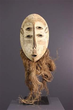 Large lega Idumu wood mask - DRC Congo - African Art