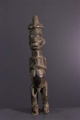 Yiteke Yaka wood figure - DRC Congo - African Art