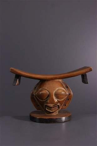 Chokwe Pwo wood headrest - Angola - African Art Tribal