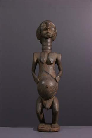 Ancestor Hemba/ Luba Singiti wood figure - DRC Congo -
