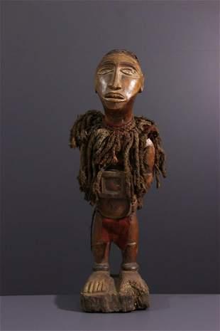 Nkisi Solongo or Sundi wood statue - DRC Congo -