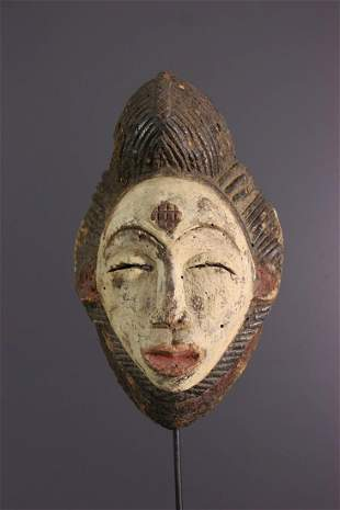 Punu Okuyi wood mask - Gabon - African Art Tribal Art