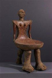 Chokwe Cihongo wood chair - Angola - African Art Tribal