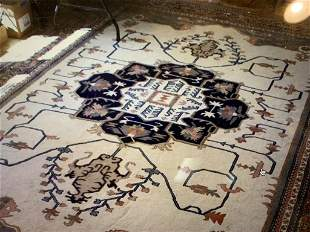 Hand Knotted Agra Heriz 9.6x14 ft