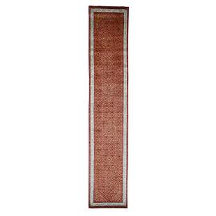 Tone on Tone Tabriz XL Runner Hand Knotted Oriental Rug