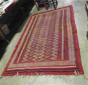 Hand Knotted Agra Flat woven Rug 5x8 ft