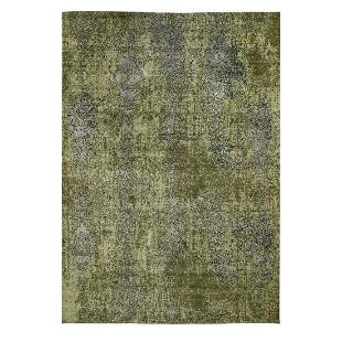 The Greens, Pure Silk With Textured Wool Hand Knotted