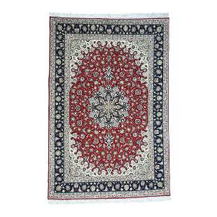 Hand-Knotted Persian Tabriz Wool And Silk 400 KPSI