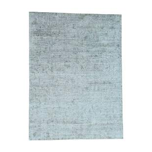 Hand-Knotted Roman Mosaic Design Pure Silk With