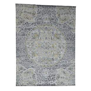 THE MAHARAJA Silk with Oxidized Wool Hand Knotted