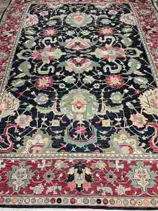 Hand Knotted Agra Heriz 8.5x11.8 ft