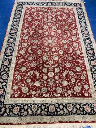 Hand Knotted Silk & Wool Tabriz 5.10x9