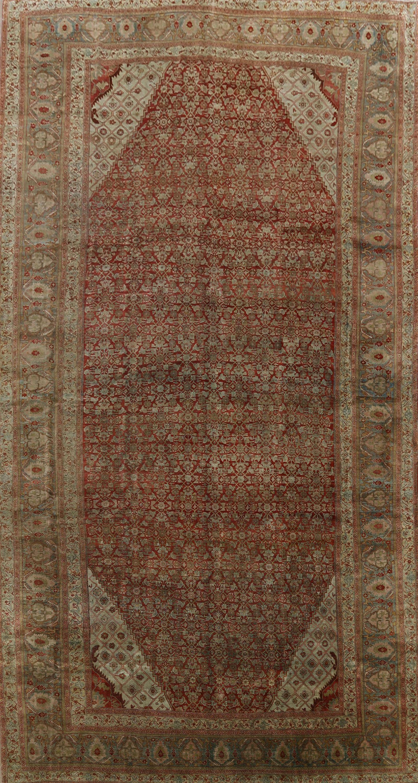 Pre-1900 Antique Bidjar Vegetable Dye Persian Area Rug