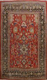 Pre-1900 Antique Sultanabad Vegetable Dye Persian Rug