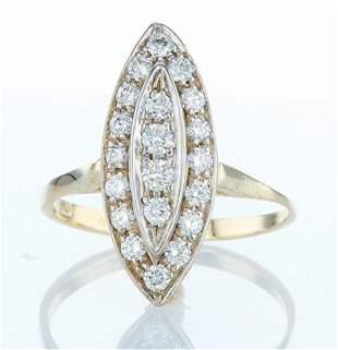 14 kt. White gold - Ring Diamond-0.46CTW