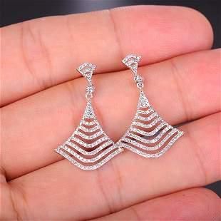 18K White Gold 0.6ct E Diamond Earrings
