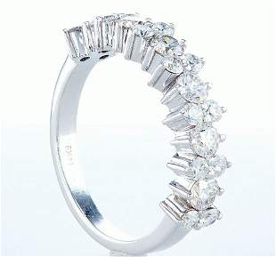 14 kt. White gold - Ring - 1.26 ct Diamond - Diamonds