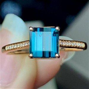 18K Yellow Gold 6.25ct Tourmaline & Diamond Ring