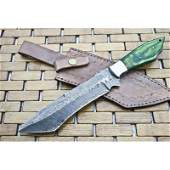 Handmade camping everyday carry damascus steel knife