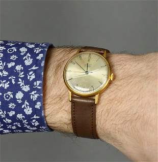 Poljot Vintage Men Wrist Watch / Rare Golden White