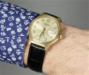 Slava Vintage Men Wrist Watch/ Vintage Russian