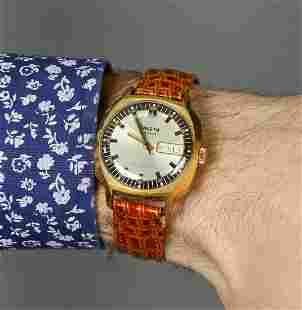 Raketa Vintage Men Wrist Watch / Golden White Vintage