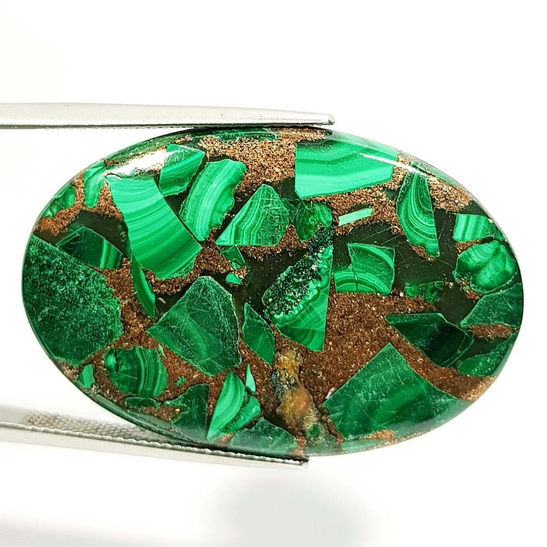41.04 ct Natural Copper Malachite
