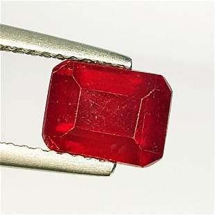 2.78 Ct Natural Ruby Octagon Cut