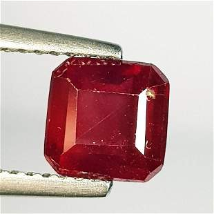 2.36 Ct Natural Ruby Square Cut