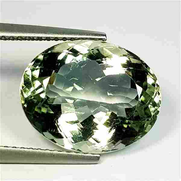 Natural Green Amethyst Oval Cut 9.01 ct