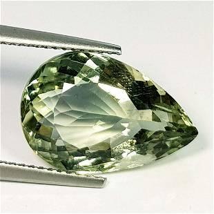 Natural Green Amethyst Pear Cut 8.35 ct