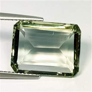 Natural Green Amethyst Octagon Cut 8.67 ct
