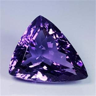 Natural Amethyst Triangle Cut 13.35 ct