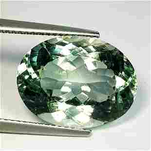Natural Green Amethyst Oval Cut 10.36 ct