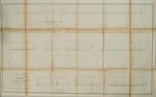 1853-4 Stevens Crossectional Maps Near the 47 to 49th