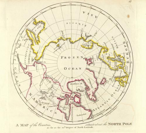 Map of the Countries Situate About the North Pole As