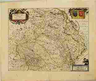 1656 Jansson Map of Reims Area and Northern France --