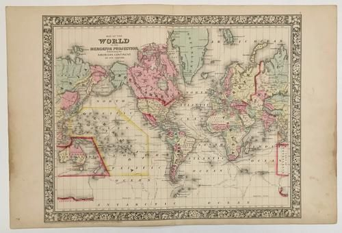 Map of the World On the Mercator Projection,