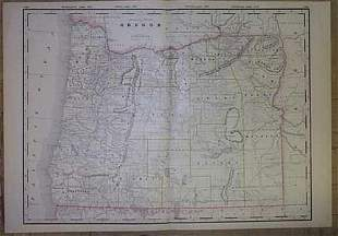 Railroad and County Map of Oregon