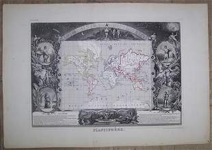 Planisphere. [Map of Most of the Earth Surrounded by