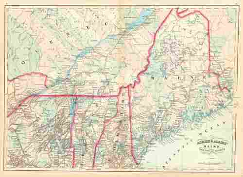 Asher & Adams' Maine and Part of Quebec