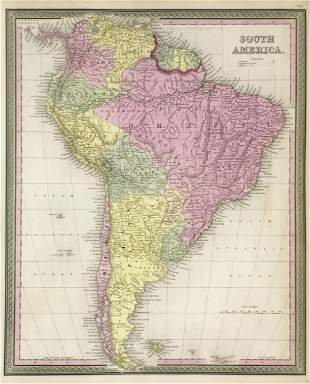 Mitchell: South America, 1849