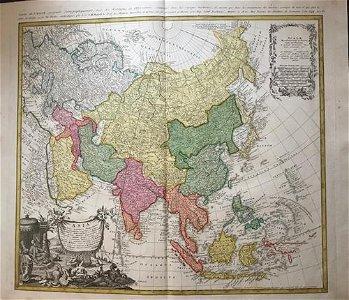 Asia. 1762 by Homann Heirs