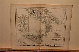 1832 Map of Italy(Sicilly)