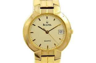 Vintage Bulova Classic Quartz Gold Plated Midsize Dress