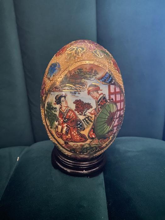 Vintage Satsuma Egg