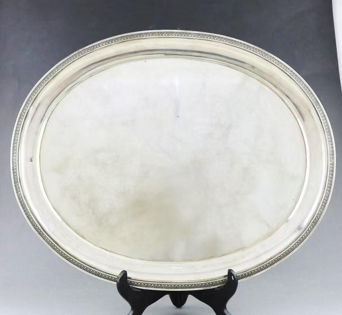 20th century Belgian sterling silver fruit plate