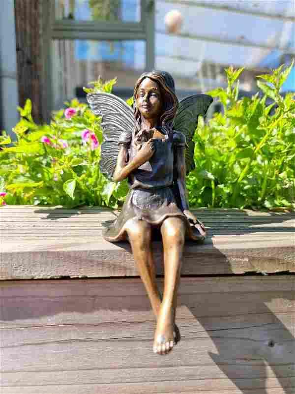 Bronze Pixie - little bronze elf - Bronze fairy - Gift
